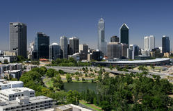 Perth cityscape. A view of the city of Perth - Western Australia royalty free stock photos