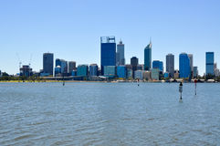 Perth Cityscape and Swan River Royalty Free Stock Photo