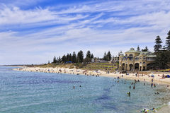 Perth Cottesloe beach pavilion day stock photos