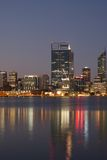 Perth downtown over Swan River Royalty Free Stock Photo