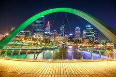 Perth Elizabeth Quay Bridge Photographie stock libre de droits