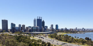 Perth from King's Park. Perth, Western Australia, viewed from King's Park on a clear blue day Royalty Free Stock Images