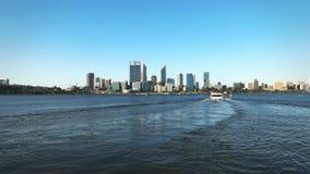 Perth linia horyzontu i zaszycie uliczny prom zbiory wideo