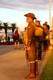 Perth memorial Kings  park 100th ANZAC dusk service Royalty Free Stock Photos