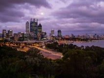 Perth miasta linia horyzontu, Australia Obraz Stock
