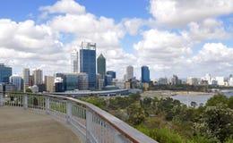 Perth miasto: Widok od królewiątko parka Przegapia zdjęcia royalty free