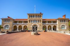 Perth mintkaramell, officiell guldtackamintkaramell av Australien arkivbilder