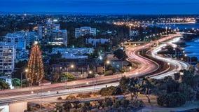 Perth-Nachtansicht in Weihnachten Lizenzfreie Stockfotos
