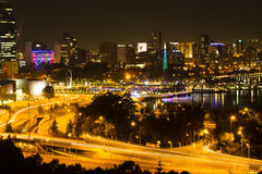 Perth night scene Stock Photo