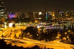 Perth night scene. Perth central business district, Western Australia Stock Photo