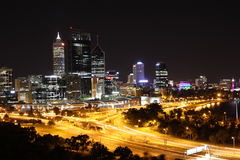 Perth at night stock image