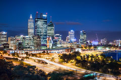 Perth Night View Royalty Free Stock Photography