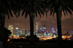Perth at night,Western Australia. Perth Skyline after sunset ,view from King's Park.Western Australia stock image