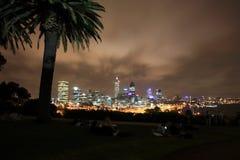 Perth på natten, västra Australien Arkivbild