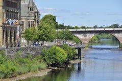 Perth Scotland. SCOTLAND Perth -- 2014 -- Cityscape of Perth, Scotland with the River Tay Stock Photography