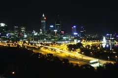 Perth Skyline Royalty Free Stock Photo