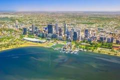 Perth Skyline aerial stock image