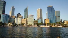 Perth Skyline At Sunset Royalty Free Stock Photo