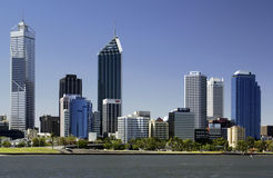 Perth Skyline - Australia. View across the Swan River of the city of Perth in Western Australia Stock Image