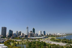 Perth skyline. From the botanic gardens Royalty Free Stock Images