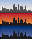 Perth skyline at daytime, sunrise and dusk Stock Image