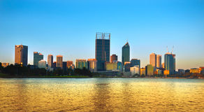 Perth Skyline at Dusk Royalty Free Stock Photography