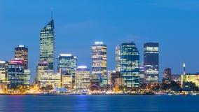 Perth Skyline at Dusk Stock Image