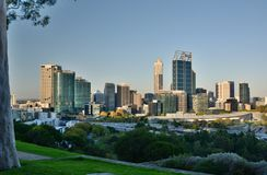 Perth skyline from Kings Park. Western Australia. Australia. Perth is the capital and largest city of the Australian state of Western Australia stock photos