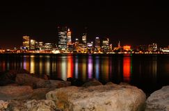 Perth skyline at night Royalty Free Stock Photo