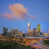 Perth Skyline at Twilight Western Australia Square royalty free stock image