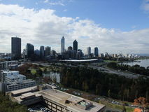 Perth Skyline of Western Australia Stock Photo