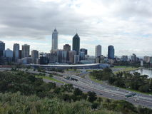 Perth Skyline of Western Australia Stock Image