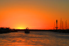 perth solnedgång royaltyfri foto