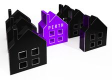 Perth Suburbs Key Showing Property Buying In An Australian City - 3d Illustration