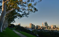 Perth view from Kings Park. Western Australia. Australia. Perth is the capital and largest city of the Australian state of Western Australia stock image