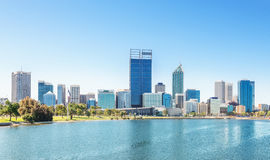 Perth view at the noon. Skyline of Perth with city central business district at the noon stock photos