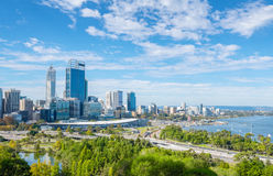 Perth view at the noon stock image