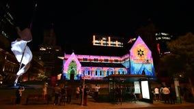 Australia, WA, Perth, Christmas illumination stock video footage