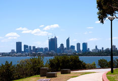 Perth  Western Australia. A view of Perth city from south of the Swan River Royalty Free Stock Image