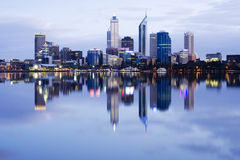 Perth Western Australia. Reflected in the Swan River at Dawn Stock Image