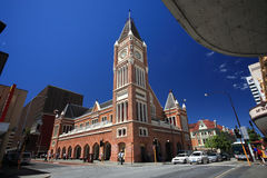 Perth,Western Australia. Clock tower.Town Hall located in city Perth,Western Australia Stock Photo