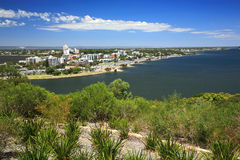 Perth,Western Australia. View from the Kings Park Perth Botanic Gardens, Perth city with black swan river as background.Western Australia Stock Images