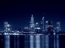 Perth, western australia. Night view of perth, western australia in blue tone Royalty Free Stock Image