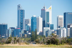 Perth Western Australia from Heirisson Island Royalty Free Stock Photos