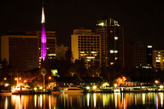 Perth  Western Australia by night. Overlooking the Bell Tower and the Jetty Stock Image