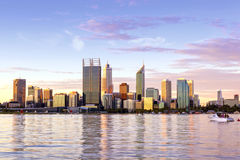 Perth Western Australia skyline at Sunset Stock Photography