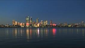 Perth zachodnia australia przy zmierzchem zbiory wideo