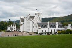 Perthshire, het UK - 20 Augustus 2016: Blair Atholl Castle in Perthsire, vroegere woonplaats van Hertog van Atholl stock foto's