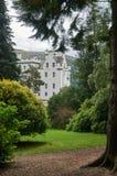 Perthshire, Reino Unido - 20 de agosto de 2016: Blair Atholl Castle em Perthsire, residência anterior do duque de Atholl imagem de stock royalty free