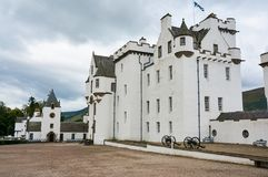 Perthshire, UK - 20 August 2016 : Blair Atholl Castle in Perthsire, former residence of Duke of Atholl. Blair Atholl Castle in Perthsire, former residence of Stock Image